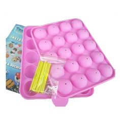 Wholesale 2-Piece Set 20 Holes Cake Pop Non-Stick Silicone Mold DIY Baking Tool