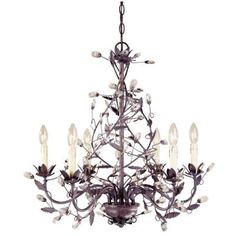 Hampton Bay 6-Light Hanging Tuscan Copper Chandelier-Y35046-163 at The Home Depot