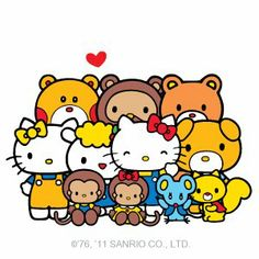 You can never have too many friends! #HelloKitty Little Twin Stars, Keroppi, Sanrio Characters, Fictional Characters, The Age Of Innocence, Hello Kitty Images, Hello Kitty My Melody, Pochacco, Japanese Characters