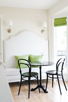 lovely banquette dining area- Tracey Ayton Photography