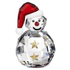 Authentic Swarovski FO Rocking Snowman Christmas Crystal Figurine for sale online Swarovski Ornaments, Swarovski Crystal Figurines, Swarovski Crystals, Swarovski Outlet, Glass Baron, Christmas Figurines, Glass Figurines, Antique Decor, Antique Jewelry