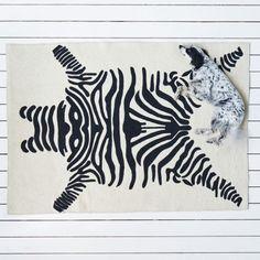 Felted Appliquéd Zebra Rug - New Autumn Finds - Home Accessories