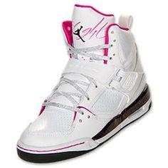 the latest ef568 b1c11 Girls  Jordan Grade School Flight 45 High Basketball Shoes   FinishLine.com    White