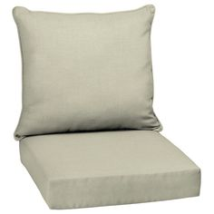 Arden Selections New Tan Leala Texture 2 Piece Deep Seating Outdoor Lounge Chair Cushion