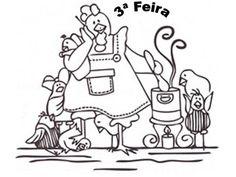Artes da Nil - Riscos e Rabiscos: Semaninha da Mamãe Galinha.