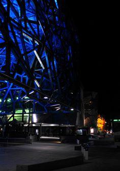 'Fed Square Blues'. Flinders Street, Melbourne. © G.C. Campbell.