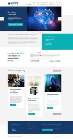 Website for Zenso Electronics - Designed by Weblounge - www.weblounge.be #layout #webdesign #website #electronics #medical #industrial #consumer