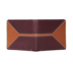 Buy  Brune Men s Contrast Stiched Burgundy With  Tan  Leather  Wallet Online  at fe4274efc4