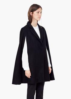 Cape en laine - Manteaux pour Femme | MANGO