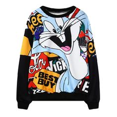 Cheap hoodies women, Buy Quality hoodies female directly from China sweatshirt women Suppliers: Hoodies Female Harajuku 2017 Cute Bugs Bunny Animal Printing Sweatshirts Women Long Sleeves O-neck Sudaderas Hoodie Women Tops Printed Sweatshirts, Hoodies, Stylish Toddler Girl, Cute Shirts, Pyjamas, Casual, Cool Outfits, Clothes, Harajuku