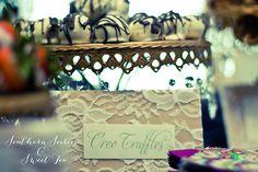 Engagement Party: Dessert Table  Oreo Truffles