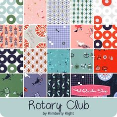 "Rotary Club Charm Pack Kimberly Kight for Cotton + Steel Fabrics - Charm Packs & 5"" Squares 
