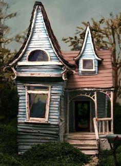 cartoon victorian house
