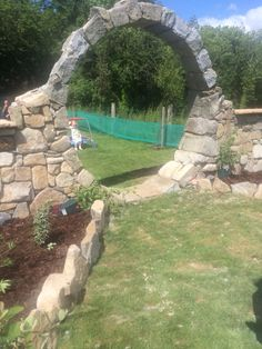 My moon gate build by my husband for my garden!