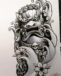 "66 Likes, 5 Comments - John Q (@johnqtattoo) on Instagram: ""En till foodog! #jq #johnq #foodog #foodogtattoo #japanesetattooart #sketch #copicciao #copicart…"""