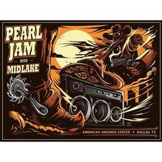 Pearl Jam concert poster. Dallas, Tx, Nov. 15, 2013