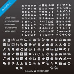 n number of web design small icon vector material Free Vector
