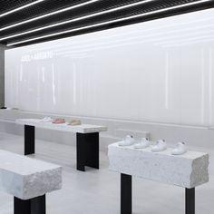 Christian Halleröd designs minimal interior for Axel Arigato London flagship
