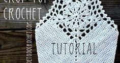 Crop Top crochet, con delantera con motivo de pentágono, paso a paso en video tutorial, en español y también en portugues.