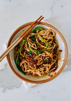 Dan Dan Noodles, made with ground pork (+ heat warning) by thewoksoflife.com