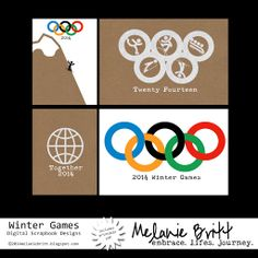 Anyone else watching the Olympics?  I will be recording the games in my #projectlife album. So I created some cards to use and thought I'd share them with you! Printable files included. Enjoy!