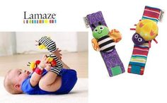 Cute Lamaze Wrist or Foot Insect Toy Baby Rattles Set of two