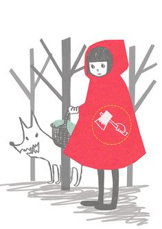 the cheeky Red Riding Hood by hoonyoon, via Flickr