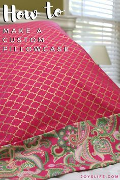 How Much Fabric To Make A Pillowcase Magnificent How To Make A Pillowcase In 3 Steps Out Of Fleece  Pinterest Inspiration Design