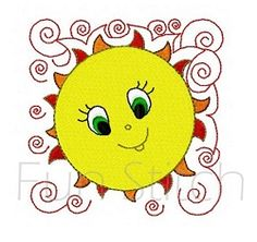 Sun Block 1 - 4x4   What's New   Machine Embroidery Designs   SWAKembroidery.com Fun Stitch