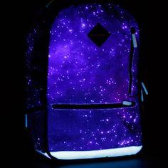 959658817e Fancy - Glow in Dark Galaxy Backpack Dark Galaxy