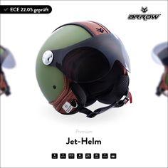 AV-84 Vintage D.G Motorcycle JET-Helmet Leather Moto VESPA ECE XS S M L XL XXL | eBay