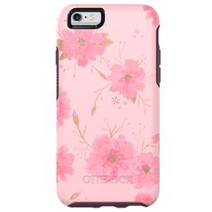 "OtterBox SYMMETRY SERIES Case for iPhone 6/6s (4.7"" Version) - Retail Packaging - Pink Fleurs"