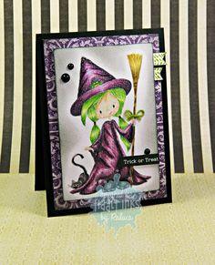RL Design - Invitatii si felicitari Handmade : Spooky Dooky - Tiddly Inks Handmade Card