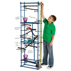 Chaos Tower - MindWare.com - Using over 600 pieces kids of all ages can build a tower up to 6 feet tall and learn about perpetual motion and more!