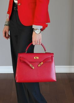 hermes kelly red