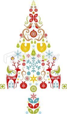 Scandinavian Christmas Tree Design Royalty Free Stock Vector Art Illustration