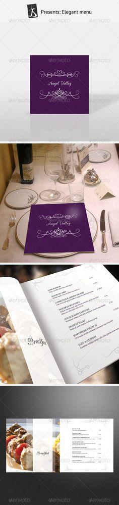 Elegant Menu - Food Menu Template InDesign INDD. Download here: http://graphicriver.net/item/elegant-menu/164054?s_rank=146&ref=yinkira