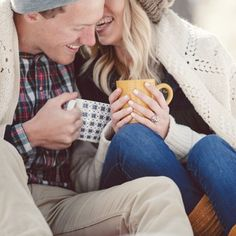 Today's engagement shoot reminds me so much of what Christmas Eve should be about....