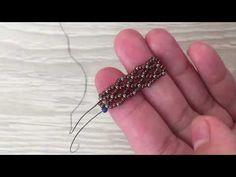 Honeycomb Texture Crystal Bracelet Making - DIY Schmuck Memory Wire Bracelets, Crystal Bracelets, Handmade Bracelets, Jewelry Bracelets, Jewelery, Seed Bead Tutorials, Jewelry Making Tutorials, Beading Tutorials, Beading Patterns