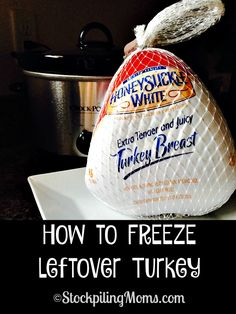 How to FREEZE leftover Turkey from Thanksgiving dinner!