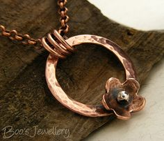 Copper circle and flower necklace - 24551f | Flickr - Photo Sharing!