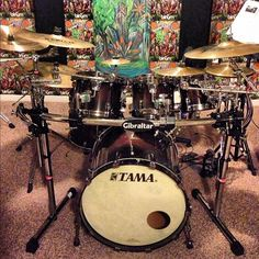 My beautiful Tama Starclassic drum set.