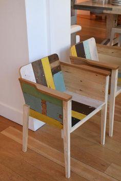 Bucket chair in Scrapwood by Piet Hein Eek.