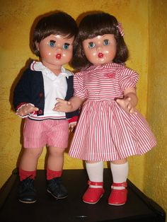 A modern release of the Spanish doll Mariquita Pérez and her brother Juanín, from 2011.