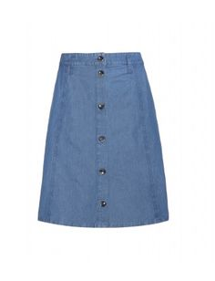 A. P. C. - Denim skirt - Wear it now with a fitted sweater and boots, swapping to a prairie blouse and sandals in time for summer - @ www.mytheresa.com
