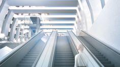 Rendering of a futuristic subway in Vienna. U Bahn, 3d Visualization, 3d Artist, Vienna, Futuristic, Projects, Log Projects