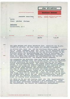 Bauhaus letterhead