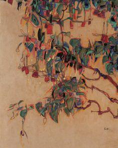Egon Schiele- Fuchsia Branches