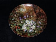 """1990 Furstenberg Wild Beauties """"Beside the Woodland Path"""" Collector Plate by Hans Grab by ThePlateHutchII on Etsy"""