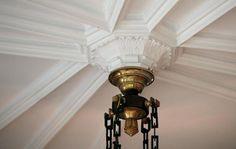 Plaster ceiling detail.